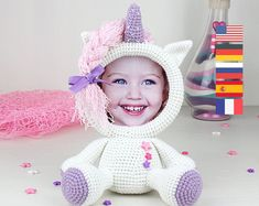 Crochet PATTERNS Frames and toys by TANATIcrochet on Etsy