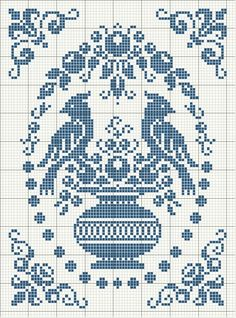 Cross Stitch Pattern Would Look Good In Monochrome.