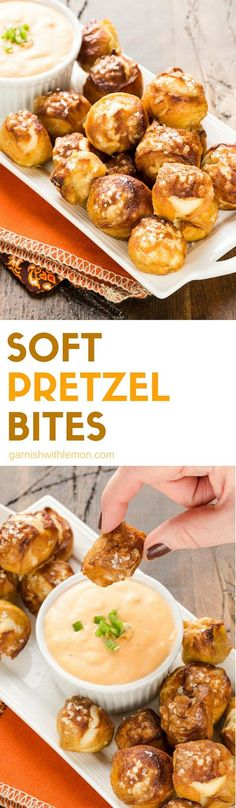 Soft Pretzel Bites are perfect for the Super Bowl and SO easy to make at home! Try it for yourself and see! #softpretzels #appetizers #partyfood #football