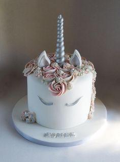 Silver pink and grey unicorn cake by Angel Cake Design Raspberry Smoothie, Apple Smoothies, Zucchini Cake, Angel Cake, Novelty Cakes, Cake Tins, Savoury Cake, Cake Mold, Mini Cakes