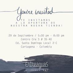   You're SO invited   #colombianswimwear #entreaguascartagena #entreaguaswearableart #entreaguas Papers Co, Cartagena Colombia, Santo Domingo