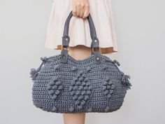 BAG // Gray Shoulder Bag Celebrity Style With Genuine by Sudrishta, $99.00
