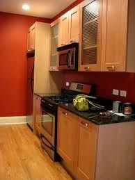 Red Kitchen Walls i like the floor tile color/style - red kitchen walls | kitchen