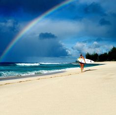 Rainbow, shore break, surf, surfing, surfer, waves, ocean, sea, water, swell, surf culture, island, beach, surf's up, surfboard, salt life, #surfing #surf #waves