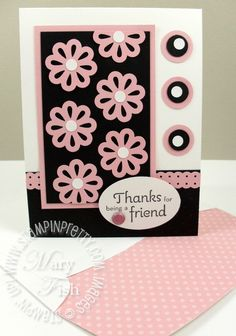 Stampin up rubber stamps handmade card ideas triple layer punch