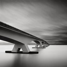 Zeeland Bridge in the Netherlands.