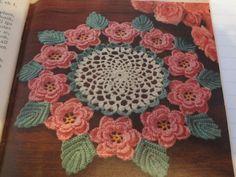 Vintage Crochet Pattern  Rose Doily Instant by sandycraftshop