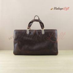 vintage brown soft leather handbag