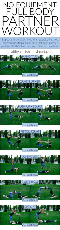 Grab a Friend & Try This Full Body Partner Workout | healthyhabitshappyheart.com