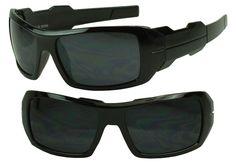 1e29981623da Black Rectangular Sports Wrap Around OG Oil Rig Big and Tall Hardcore  Sunglasses