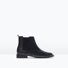ZARA - WOMAN - STUDDED LEATHER ANKLE BOOT