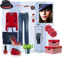 """""""Jeans Style with LensCrafters and Coach"""" by elenastrelkova on Polyvore"""