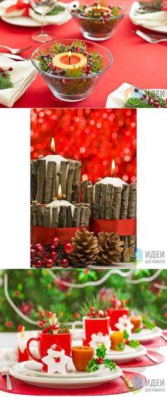 Новогодние свечи – декор к Новому году