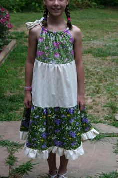 Sewing: Tiered Pillowcase Dress