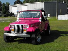 A pink Jeep. Not big on Jeeps, but I'd probably drive this.