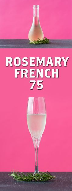 Rosemary French 75, Rosemary, Cocktail, Champagne Cocktail, Gin Cocktail, New Years Cocktail, Bridal Party Cocktail, Shower Cocktail, Wedding Cocktail