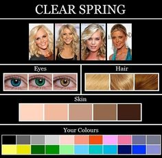 soft beige or golden beige (all with yellow or        golden undertones)      Hair      • Golden blonde, strawberry blonde, golden brown, light brown, red, or auburn (all        with red or golden undertones)      Eyes      • Turquoise, teal blue, aqua, clear blue, blue green