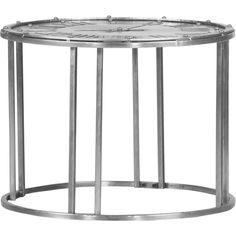 """Der Beistelltisch """"Cheesy"""" ist ein wahrer Hingucker. Der runde Tisch ist aus robustem Metall gefertigt, hochwertig lackiert und individuell nutzbar. Der Clou an Ihrem modernen Beistelltisch ist seine Tischplatte mit einem eingestanzten Uhrenmotiv, auf dem sich römische Zahlen befinden. Damit hinterlassen Sie bei Ihren Gästen einen bleibenden Eindruck!"""