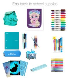 """Elsa school supplies"" by mahkaylah on Polyvore featuring Hadaki, Vera Bradley, Happy Jackson, Paper Mate and Polite"