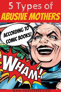 Which DC or Marvel #comicbook character is your #abusivemother? A humorous look at #difficultmothers for comic book nerds. #toxicmother #toxicparents #abusiveparents Narcissistic Mother, Narcissistic Abuse, Marvel Comic Books, Comic Book Characters, Toxic Family Members, Abusive Parents, Guilt Trips, Self Pity