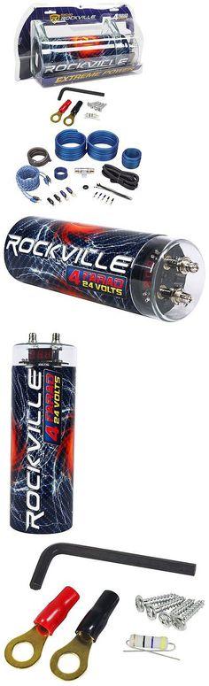 capacitors pcblk35 planet audio 3 5 farad black power capacitor w capacitors rockville rxc4d 4 farad 12 volt digital power capacitor rwk41 4 awg