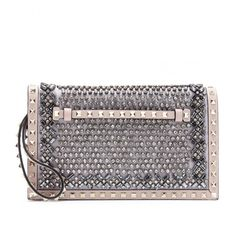 Valentino Embellished Rockstud Clutch by None, via Polyvore