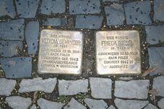 Stolperstein at Halle (Saale) for Yedidia Geminder and Frieda Riesel, Mühlweg 36