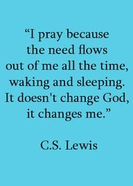 C.S. Lewis is a great writer (wrote the Chronicles of Narnia) and is very impacting