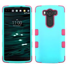 MYBAT TUFF Hybrid LG V10 Case - Rubberized Teal Green/Pink