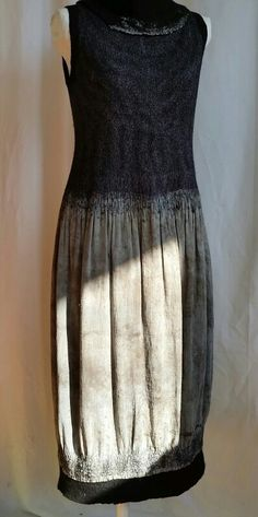 Nuno dress with ecodyed skirt More