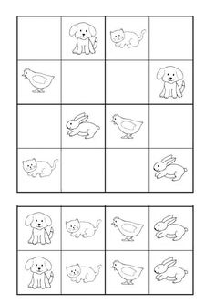 School Worksheets, Worksheets For Kids, Preschool Projects, Preschool Activities, Free Puzzles For Kids, Anterior Y Posterior, Sudoku Puzzles, Grande Section, Printable Numbers