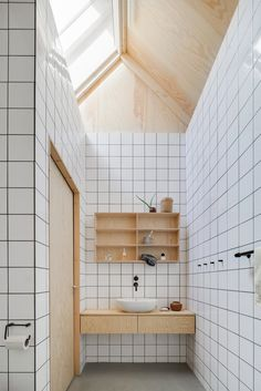 One part that can make your Scandinavian bathroom look extra appealing is the sh. - Most awesome scandinavian bathroom ideas - Bathroom Decor Bad Inspiration, Bathroom Inspiration, Bathroom Toilets, Small Bathroom, Bathroom Ideas, Minimal Bathroom, Master Bathroom, Fully Tiled Bathroom, Nature Bathroom
