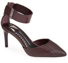 Dolce Vita Leather Ankle Strap d'Orsay Pump (Women)