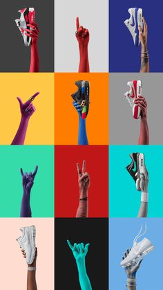 Nike AMD Revolution is a creative project by artist Tom Berry and production studio Happy Finish advertising a line of sneakers from Nike. The dynamic branding Design Corporativo, Design Room, Icon Design, Logo Design, Nike Design, Happy Design, Stand Design, Booth Design, Brochure Design