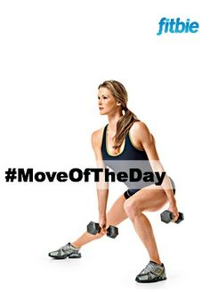 #MoveOfTheDay: Dumbbell Side Lunge, works #calves, #glutes, #quads, and #hamstrings | Fitbie.com