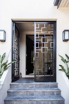 Grill Door Design, House Gate Design, Door Grill, Door Gate Design, Front Gate Design, Bedroom Door Design, Fence Design, House Entrance, Entrance Doors