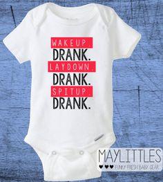 Drank Onesie Wake Up Drank Baby Hip Hop Onesie by MayLittles