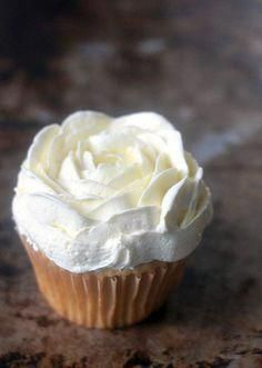 This is the best buttercream because it is not sickeningly sweet or overly rich like many buttercream frostings, is fluffy and silky smooth, pipes out. Cupcake Recipes, Baking Recipes, Cupcake Cakes, Dessert Recipes, Köstliche Desserts, Delicious Desserts, French Desserts, Health Desserts, Plated Desserts