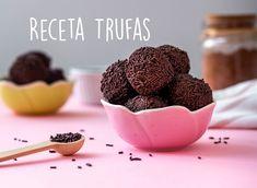 Receta Trufas de Chocolate Breakfast, Food, Chocolate Truffles, Sweet Treats, Tarts, Morning Coffee, Meal, Essen, Hoods