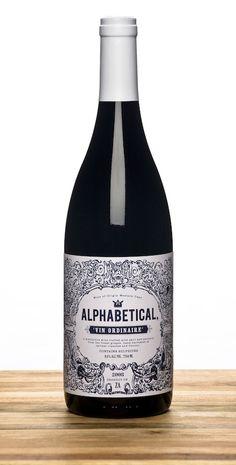 Alphabetical Wines designed by Marco Simal wine / vinho / vino mxm Wine Bottle Design, Wine Label Design, Wine Bottle Labels, Wine Bottles, Impression Etiquette, Wine Logo, Wine Photography, Vides, Wine Deals