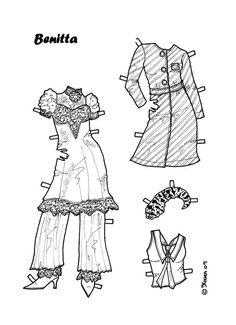 Karen`s Paper Dolls: Benitta