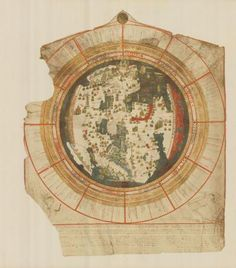 The Mappamundi by the Venetian cartographer Giovanni Leardo, 1452 Vintage Maps, Antique Maps, Venice Map, African Map, Map Globe, Wall Maps, Historical Art, Technical Drawing, Map Art
