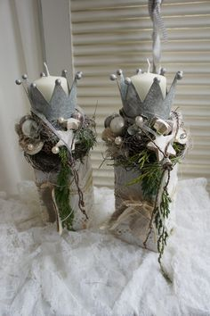Bildergebnis f r kronen basteln aus blechdosen decor pinterest krone basteln blechdosen - Stylische weihnachtsdeko ...