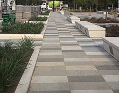 AIM - American Interlock & Modular Paving & Construction - Commercial and residential flexible interlocking pavement for outdoor spaces. Landscape Elements, Landscape Design, Architecture Details, Landscape Architecture, Design Plaza, Outside Flooring, Parque Linear, Pavement Design, Outdoor Paving