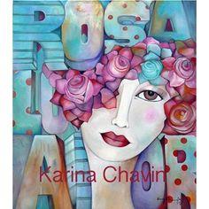 Rosa love Silk Art, Crochet Diagram, Create And Craft, Face Art, Textile Art, Watercolor, Art Prints, Drawings, Illustration