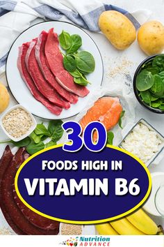 What are the best dietary sources of vitamin B6? This article presents the top 30 foods high in vitamin B6 alongside the amount they offer per 100 grams and per serving. #vitamins #nutrition #nutrients Vitamin B6 Foods, Foods High In Folate, Nutrition Articles, Diet And Nutrition, Health Diet, Beef Liver, Cooking Turkey, Protein Sources