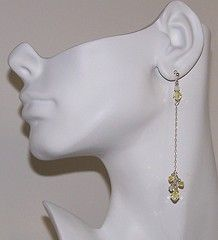Lemon Drop Earrings with sterling silver and Swarovski crystals by BellAmore on Etsy, $22.00