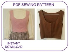 Could use for Belle's town outfit or Maria vest PFD sewing pattern in 7 sizes for women. Sound of