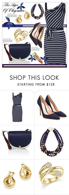 """""""The Age of Elegance"""" by helenaymangual ❤ liked on Polyvore featuring Lola, Gianvito Rossi, Victoria Beckham, Kenneth Jay Lane and Bloomingdale's"""