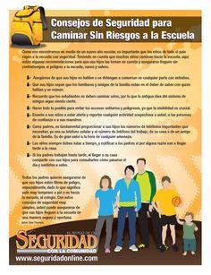 """El Mundo de la Seguridad con la Comunidad: """"Consejos de Seguridad Para Caminar Sin Riesgos a la Escuela"""""""